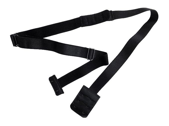 8131b73736328 Lady s Adjustable Low Back Bra Converter Straps 2 Hook Black 1SET at ...