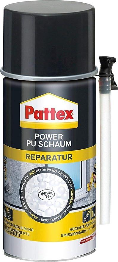 6 x Pattex Power Reparación de espuma de poliuretano 300 ml - White Tech: Amazon.es: Bricolaje y herramientas