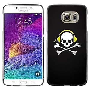 LECELL -- Funda protectora / Cubierta / Piel For Samsung Galaxy S6 SM-G920 -- Skull Beat Bones --