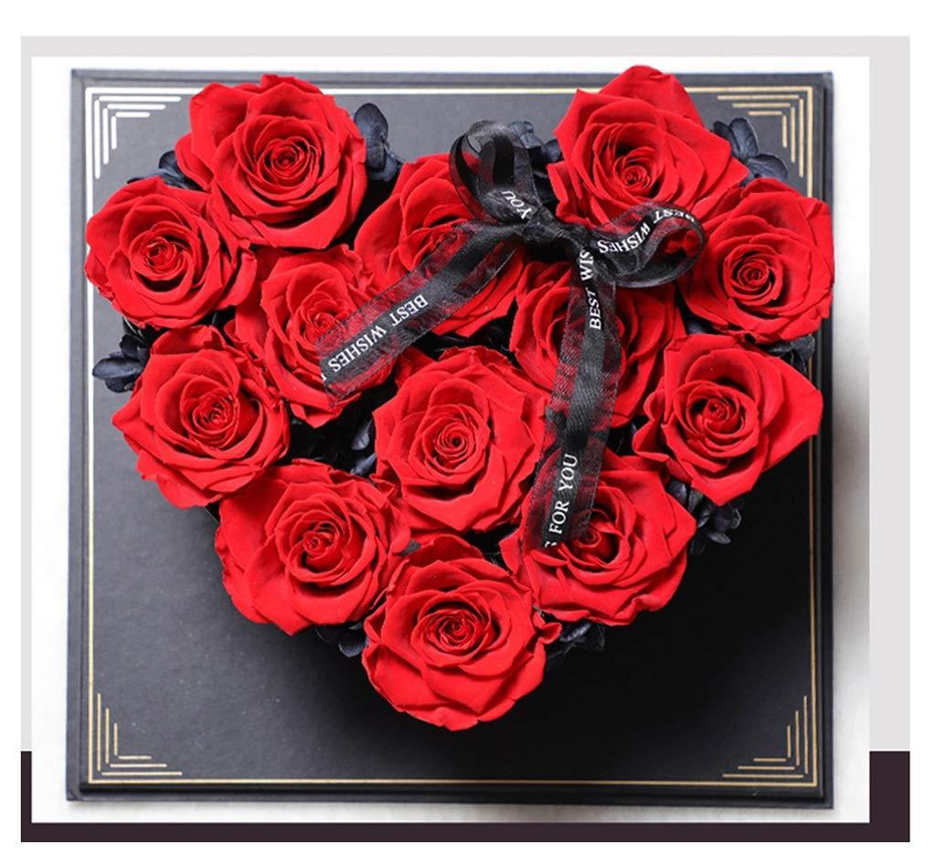NKDK 永遠の花創造的な愛のギフトボックスの装飾バレンタインギフトの誕生日は永遠の花をバラ - 造花 3635 (Color : B) B07SST4KTR B