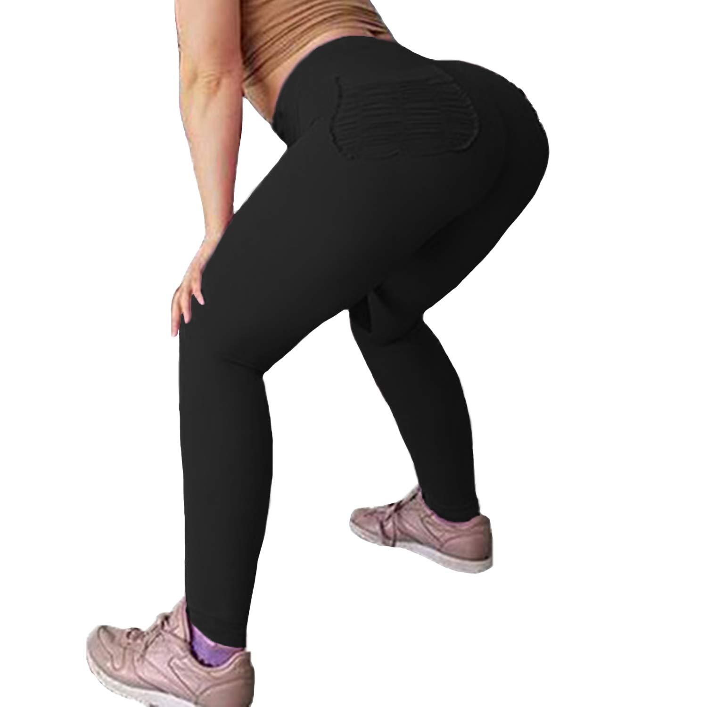 Black Pocket Medium FITTOO Market Sexy Heart Leggings Patchwork Gym Workout Yoga Pants for Women