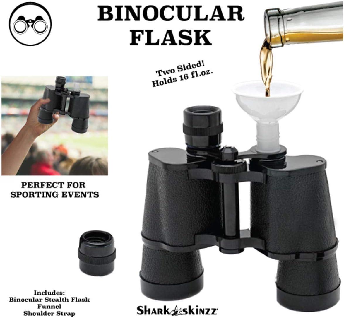 Double Sided Secret Binocular Flask Binocular Flask Holds 16oz Total!