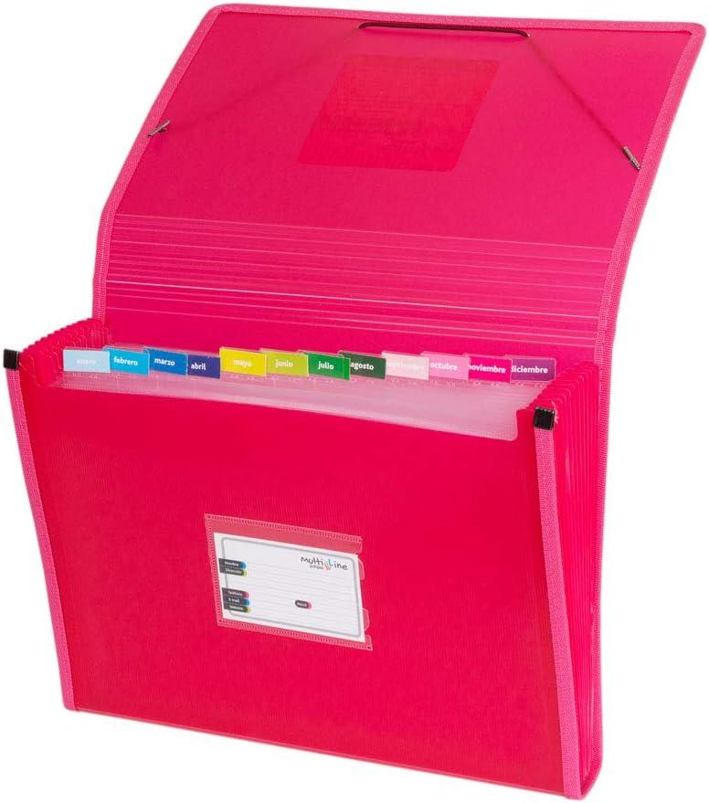 Grafoplás 02963054-Carpeta con fuelle, tamaño folio, color rosa
