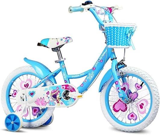 SGMYMX Bicicleta para niños Bicicleta Infantil Princesa Estudiante Bicicleta niña Bicicleta de Pedal 12