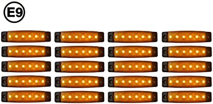 A1 20 X Led 12v Orange Begrenzungsleuchte Positionsleuchte Seitenmarkierungsleuchte Lkw Auto