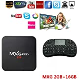 Android TV BOX Quad Core 2G/16G MXG Pro 4K Android 6.0 Improved Version Streaming Media Player+Wireless Keyboard