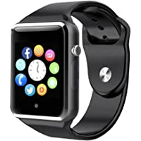 Bluetooth Smart Watch A1 - WJPILIS Touch Screen Smart Wrist Watch Smartwatch Phone with SIM Card Slot Camera Pedometer Sport Tracker for IOS iPhone Android Samsung LG Smartphones for Men Women Child