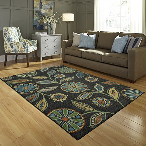 Area Rugs, Maples Rugs [Made in USA][Reggie Artwork Collection] 7' x 10' Non Slip Padded Large Rug for Living Room, Bedroom, and Dining Room by Maples Rugs (Image #3)