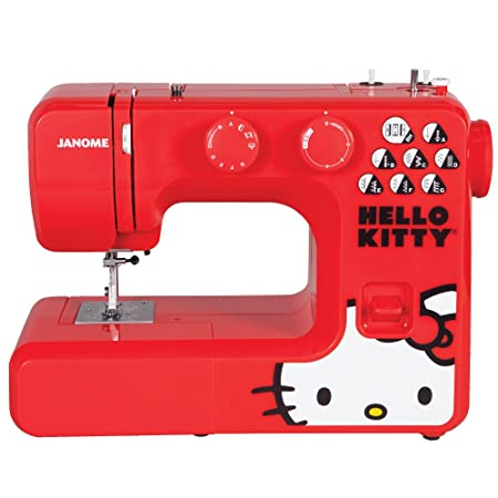 Janome 40 Red Hello Kitty Sewing Machine Amazoncouk Kitchen Adorable Hello Kitty Sewing Machine Uk