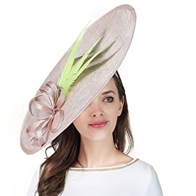 b034f7d8db603 Sinamay Kentucky Derby Hat for Women Elegant Church Wedding Hats ...