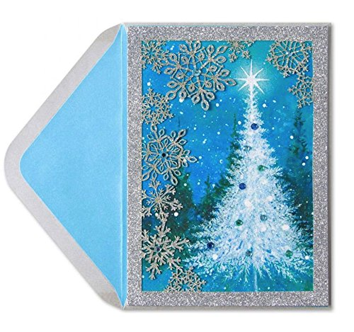 Papyrus Christmas Cards.Christmas Card Snow Scene With Laser Cut Snowflakes By Papyrus Import It All