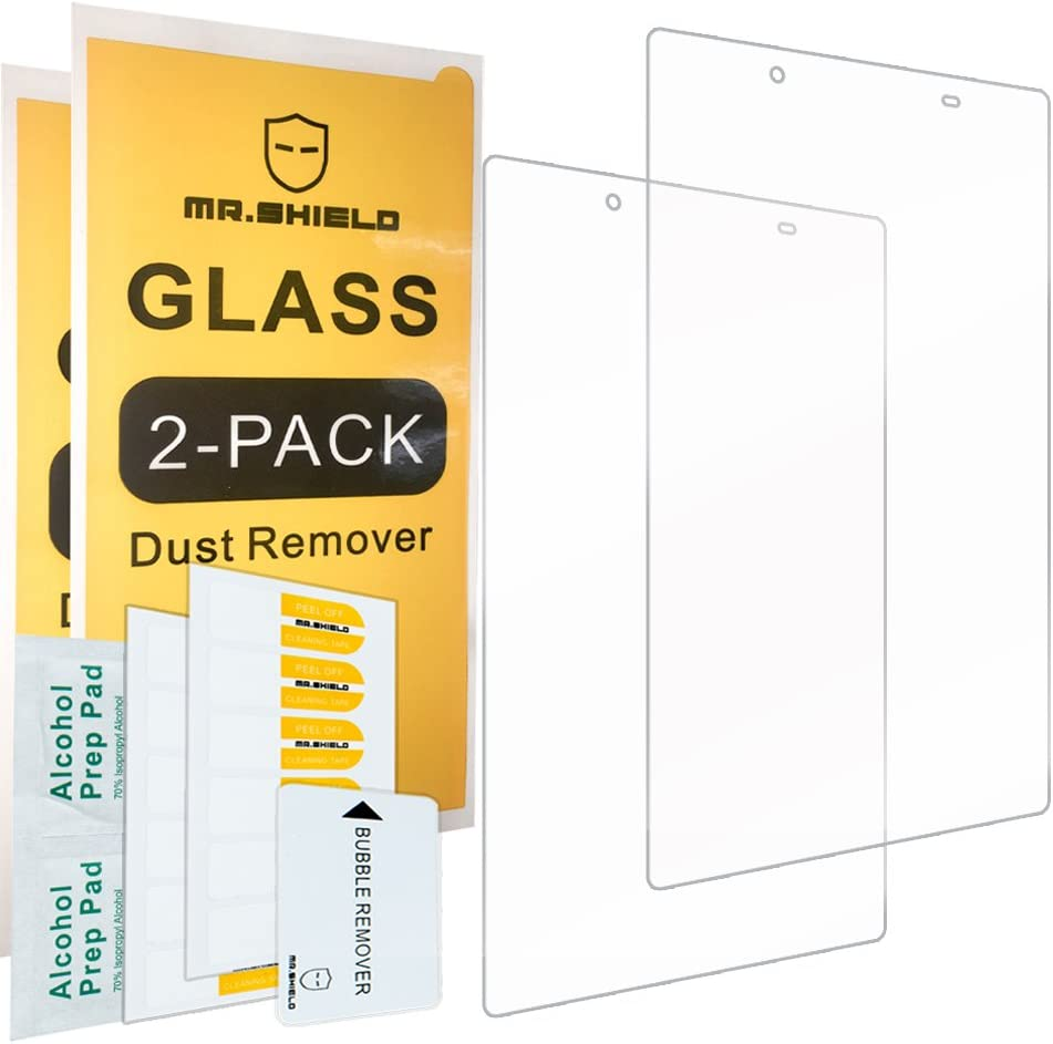 [2-PACK]-Mr.Shield For Lenovo Tab 4 8 (8 Inch) [Tempered Glass] Screen Protector [0.3mm Ultra Thin 9H Hardness 2.5D Round Edge] with Lifetime Replacement