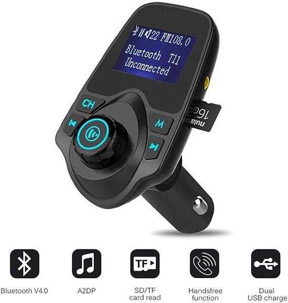 Bluetooth Car Kit Wireless FM Transmitter USB Charger Audio Mic MP3 Player