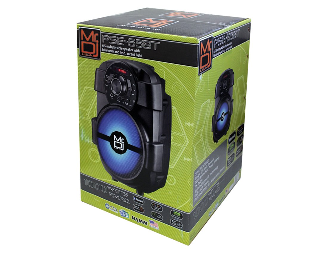 Mr. Dj PSE65BT 6.5'' Portable Active Speaker with Rechargeable Battery 1000W P.M.P.O, 1'' by Mr. Dj (Image #4)