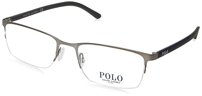 Ralph Lauren POLO 0PH1150 Monturas de gafas, Matte Gunmetal, 53 ...