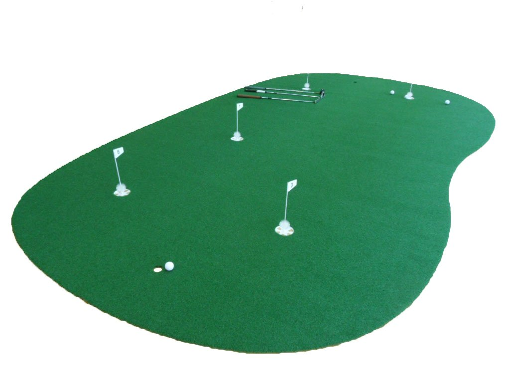 """StarPro 9ft x 15ft 5-Hole Professional Practice Putting Green ''Best in the World."""""""