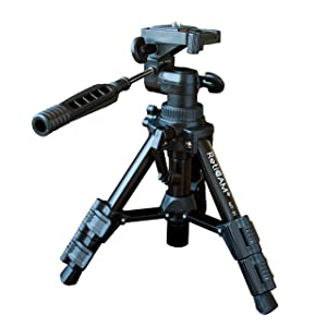 RetiCAM Tabletop Tripod with 3-Way Pan/Tilt Head, Quick Release Plate and Carrying Bag - MT01 Mini Tripod, Aluminum, Black