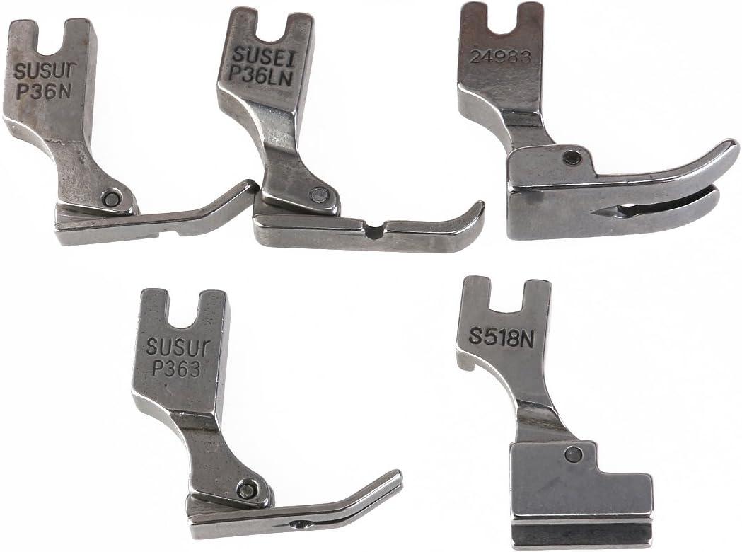 UEETEK Prensatela de 5pcs para máquina de coser de Juki Industrial S518NS P36LN P36N P35 P363 (plata)