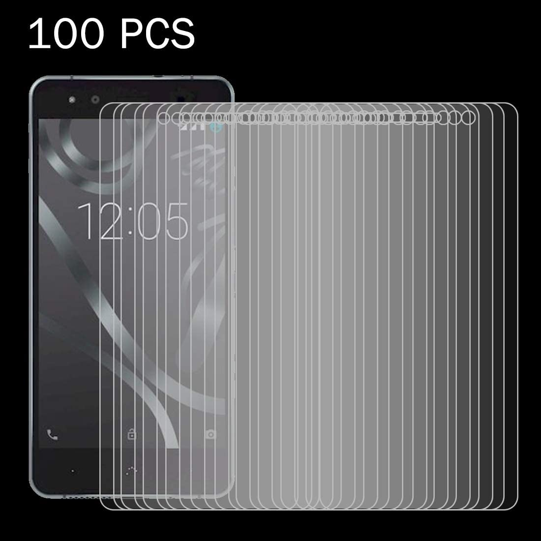Wangl Mobile Phone Tempered Glass Film 100 PCS for BQ Aquaris X5 Plus 0.26mm 9H Surface Hardness 2.5D Explosion-Proof Tempered Glass Screen Film Tempered Glass Film