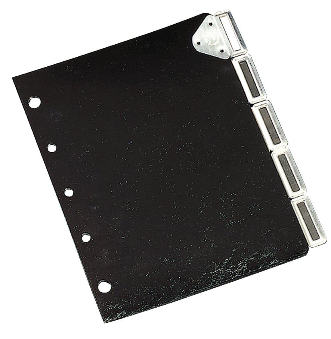 Master Catalog Rack Index Set, Black/Silver (MATB5175M)