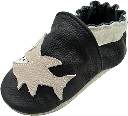 Littleoneshoes Soft Sole Leather Baby Infant Kid Children PartyBlack Shoes 0-6M
