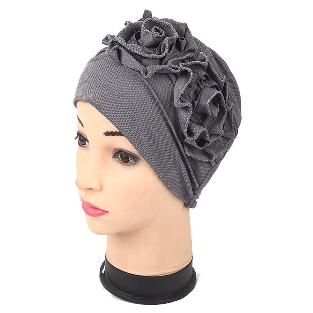 Opromo Chemo Hat Beanie Cancer Cap Women Stretch Flower Muslim Turban  Headwear-Style B Black at Amazon Women s Clothing store  7595bbc69dcd