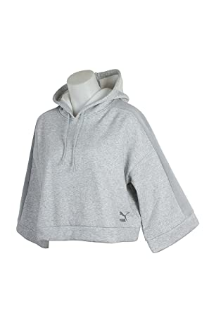 6baf7fbb24786 Amazon.com  PUMA Womens Crop Long Sleeves Hoodie  PUMA  Clothing