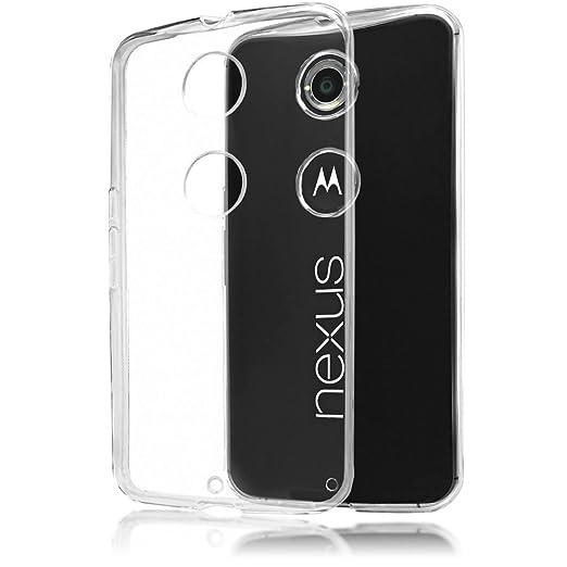 35 opinioni per Motorola Nexus 6 Cover Custodia Protezione di NICA, TPU Silicone Trasparente