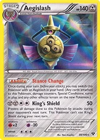 85//146 Regional Stamped Promo Aegislash Near Mint Pokemon
