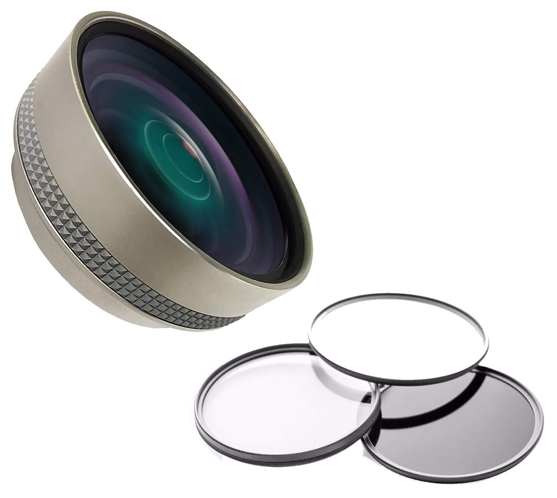 Canon PowerShot sx420 is HD (高定義) 0.5 X広角レンズ、マクロ+フィルターセット+レンズ/フィルターアダプタリング   B07117J7PN