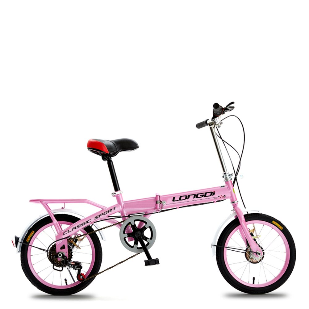 XQ チャイルドフォールド可変自転車16/20インチ大人のダンピング男性と女性のタイプの学生自転車 子ども用自転車 ( 色 : ピンク ぴんく , サイズ さいず : 20-inch ) B07CK2FZJY 20-inch|ピンク ぴんく ピンク ぴんく 20-inch