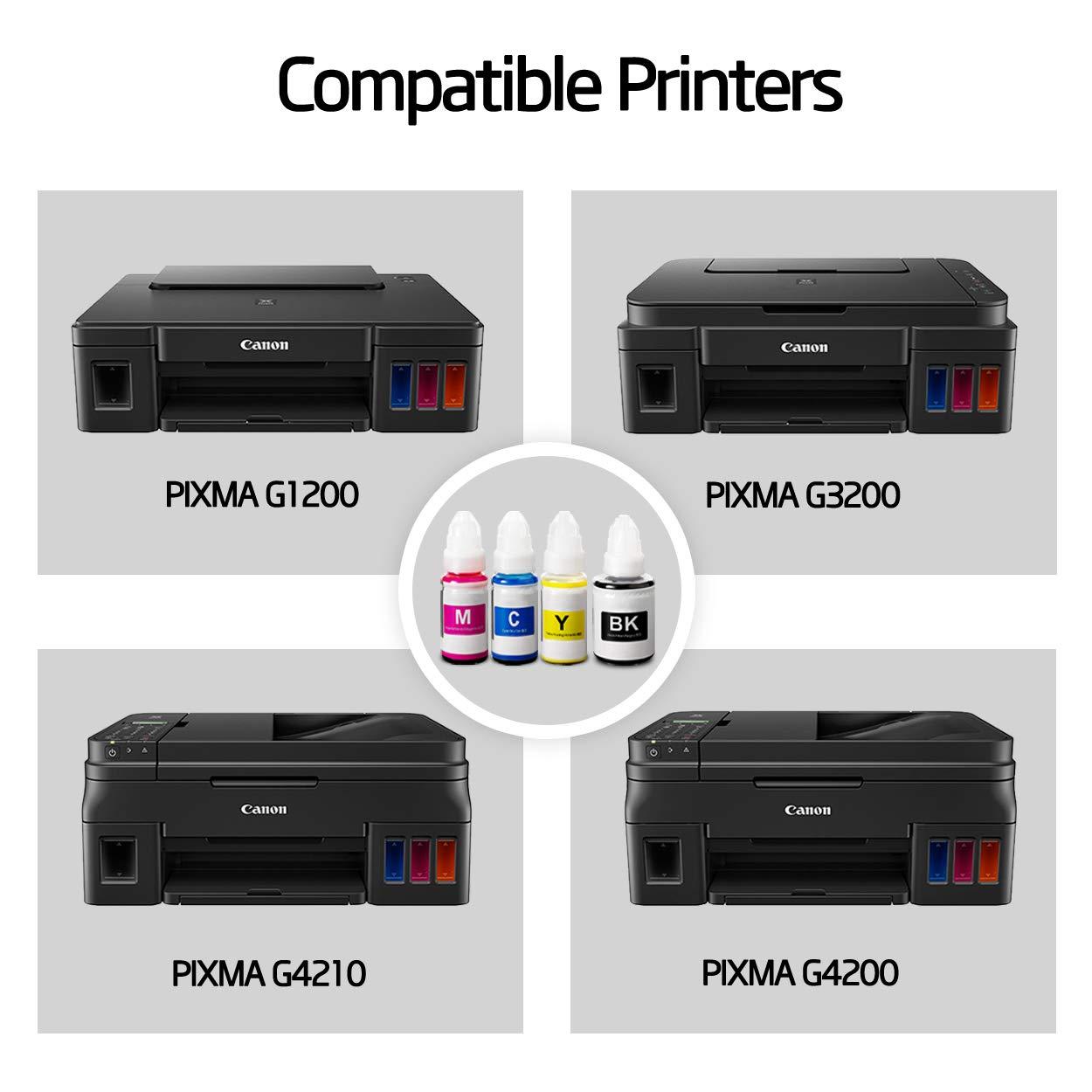 AOPANE - Kit de Recambio de Tinta para Canon PIXMA G4200, PIXMA ...