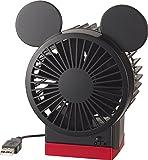 リズム時計 Disney ( ディズニー ) ミッキー キャラクター USB ファン 角度調整付 ブラック 9ZF007MC02