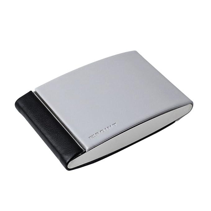 EDB01A08 Negro Gris 2 Almacenamiento Slots Nombre de la empresa titular de la tarjeta de aluminio