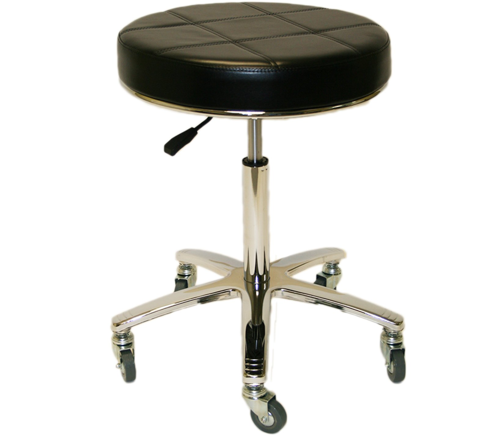 LCL Beauty Tall Super Heavy Duty Extra Large Deluxe Air-Lift Technician Stool with Welded Steel Base - 400Lb Capacity! by LCL Beauty