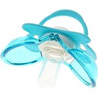Baoblaze Boy Girl Unisex Baby Teat Translucent Silicone Baby Dummy Pacifier - Blue, 0-5M