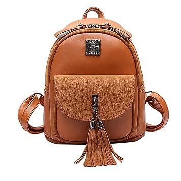 Tiadi Mochila De Viaje Dama Multifuncional Moda Mochilas Cuero Diario Backpack Pequeña Vintage Mochilas Tipo Casual Mujer Moda Mochila Diaria: Amazon.es: ...