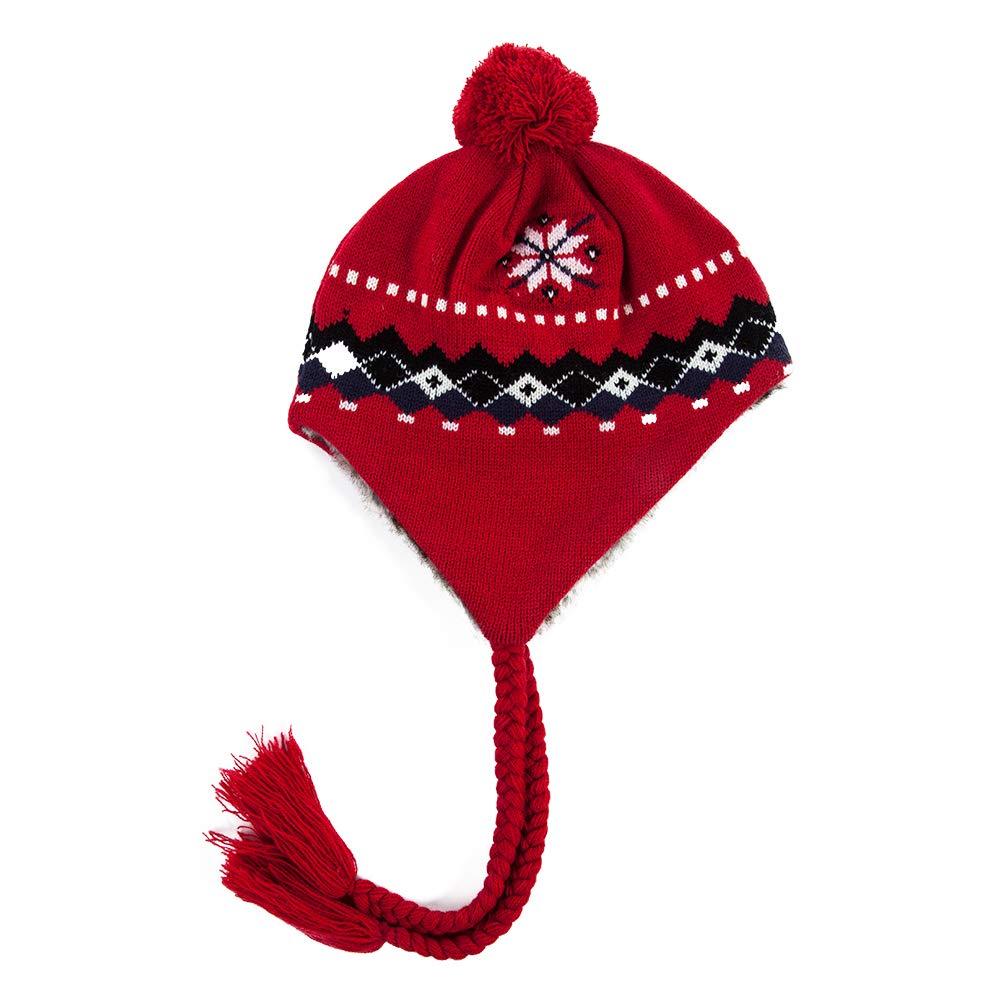 Jeff /& Aimy Womens Wool Knit Peruvian Beanie Winter Hat Earflap