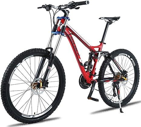 KXDLR Velocidades De Peso Ligero 27 Bicicletas De Montaña Bicicletas Aleación Más Resistente Marco De Aceite De Freno, 26