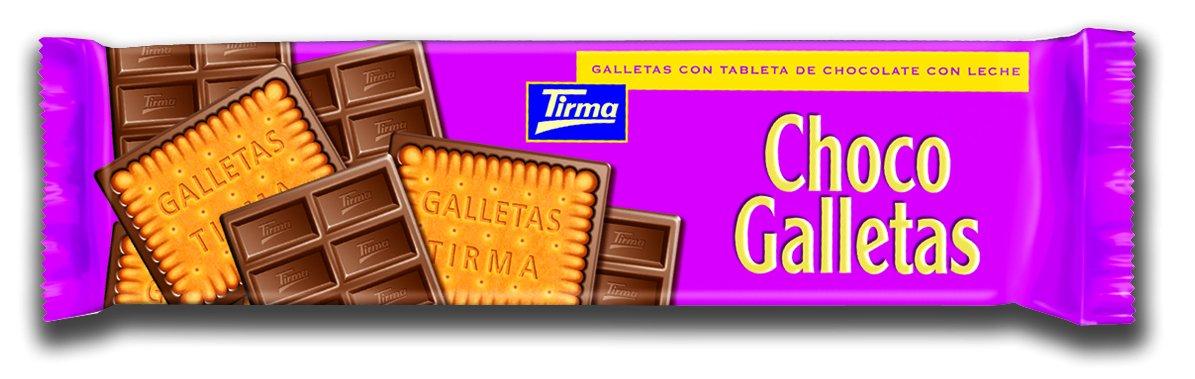 Tirma Galletas con Tableta de Chocolate con Leche - 12 Unidades x 160 gr: Amazon.es: Alimentación y bebidas