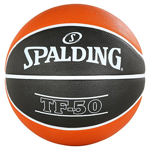Spalding ACB tF50 Outdoor SZ. 5 83 – 664z Ballon de Basket-Ball, Mixte Adulte, Orange/Noir, 5 3001502025015