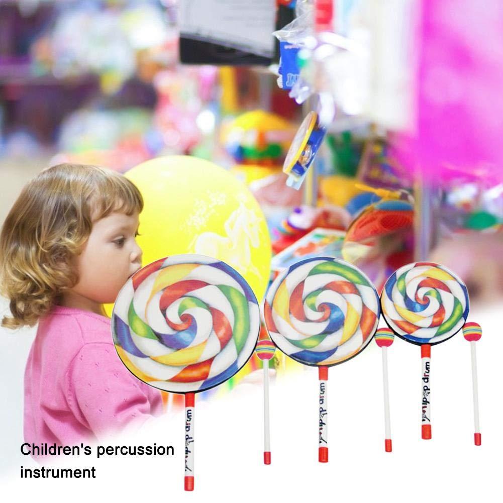 instrumento de percusi/ón infantil para tambor Lollipop instrumento Orff Instrumento de percusi/ón musical