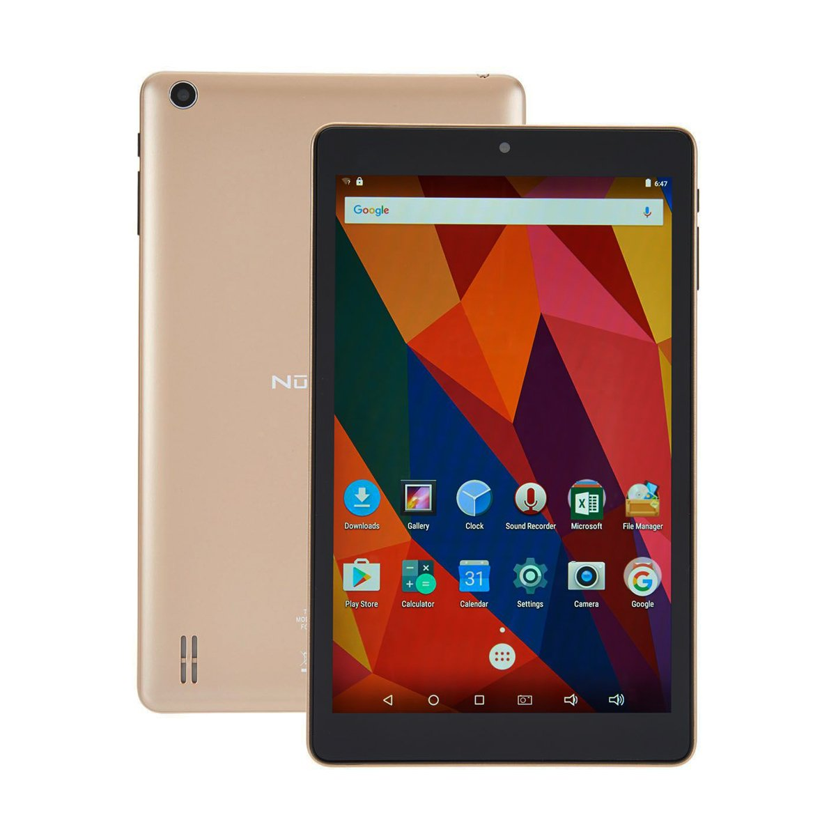 Nuvision 8 inch HD Touchscreen Android Tablet Case, 1.3GHz Cortex-A7 Quad-core Processor, 16GB Storage 1GB RAM WiFi, Bluetooth 4.0 Dual Cameras (Gold)
