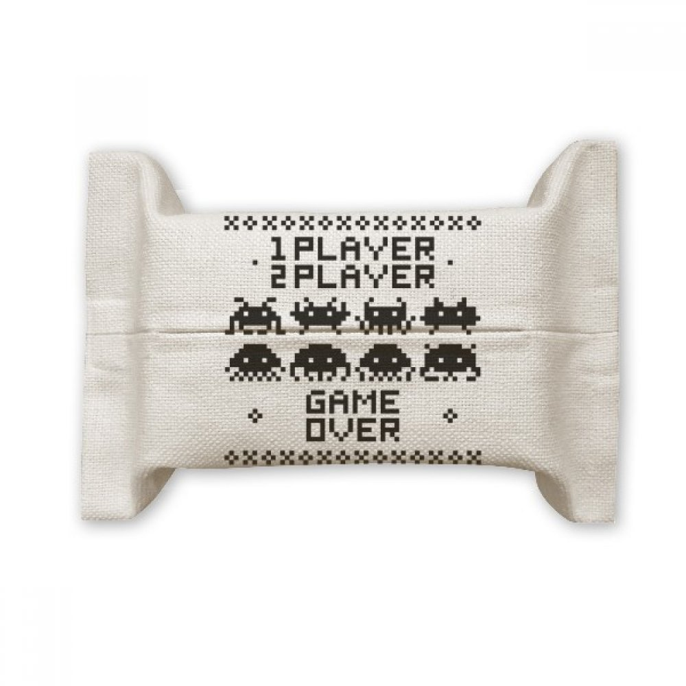DIYthinker Players Game Over Little Monster Pixel Cotton Linen Tissue Paper Cover Holder Storage Container Gift