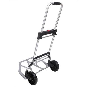 Carro de manutation carretilla plegable (carga máxima 110 kg carrito de transporte con ruedas caoutchout: Amazon.es: Jardín