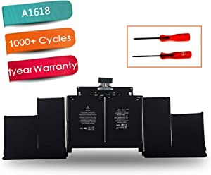 """EMAKS A1618 Laptop Battery for Apple MacBook Pro 15"""" Retina A1398 Mid 2015 Ver MJLQ2LL/A MJLT2LL/A MJU2LL/A EMC 2909 2910,P/N:020-00079 02000079 1ICP9/47/95-ICP8/56/66-2 [11.36V 99.5Wh]"""