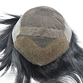 Jet Black Toupee Hairpiece for Men Real Human Hair Replacement in Stock