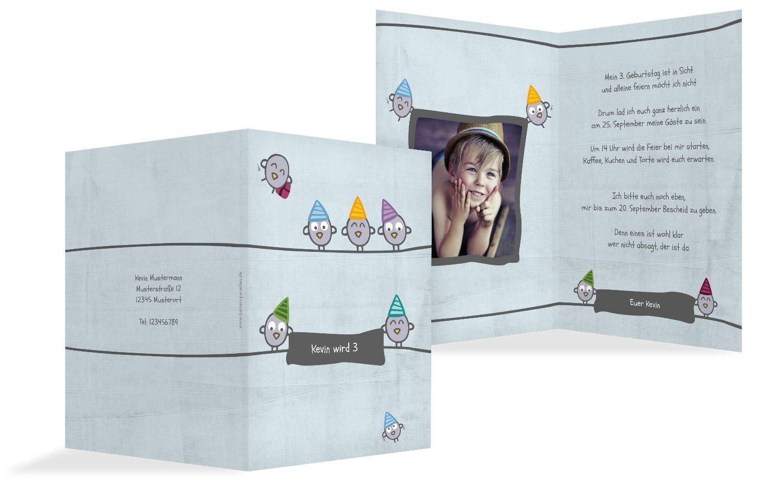 Einladung zum Geburtstag Foto Vogelfest, 20 Karten, PastellHellGrün B07L13YFBZ | Günstigstes  | Up-to-date Styling  | Üppiges Design