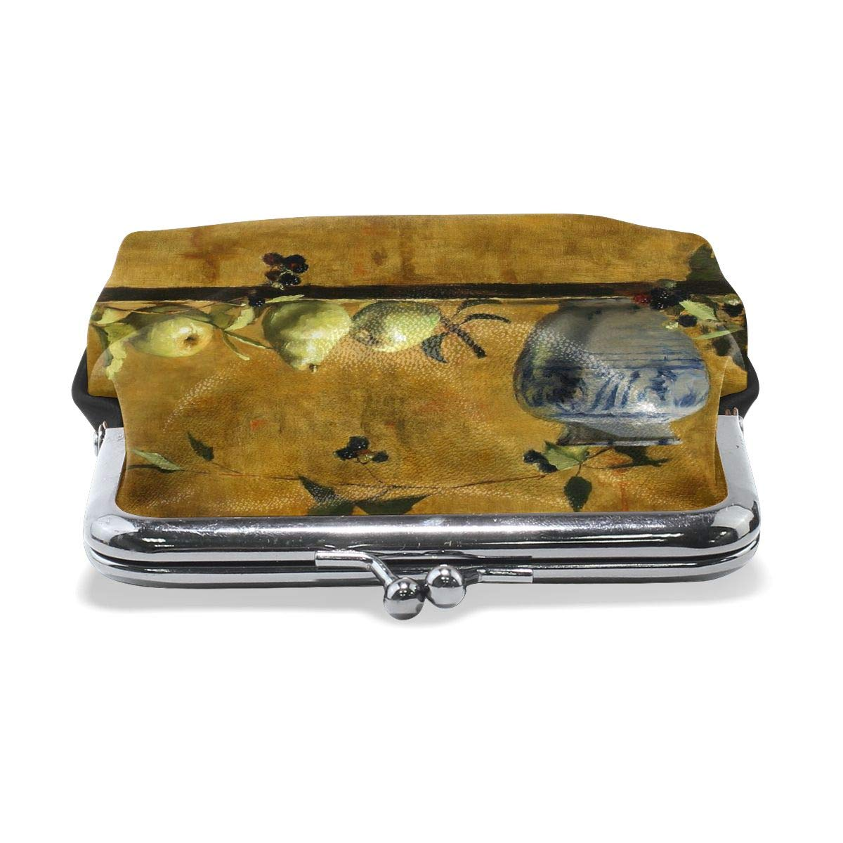 Exquisite Static Art Fruits Cash Buckle Coin Purse For Womens