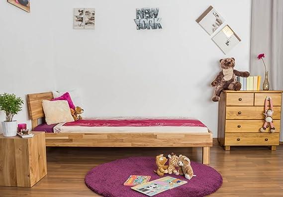 massivholzbett roble 90 x 200 cm barnizada: Amazon.es: Bricolaje y herramientas